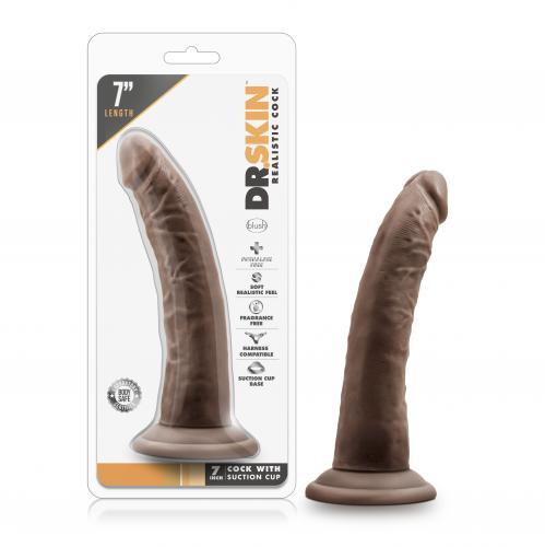 Dr. Skin - Realistische Dildo Met Zuignap 19 cm - Chocolate #11