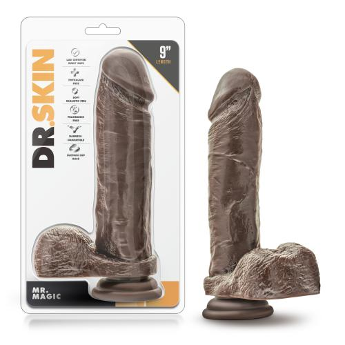 Dr. Skin - Mr. Magic - 9 inch Dildo with Suction Cup - Chocolate #9