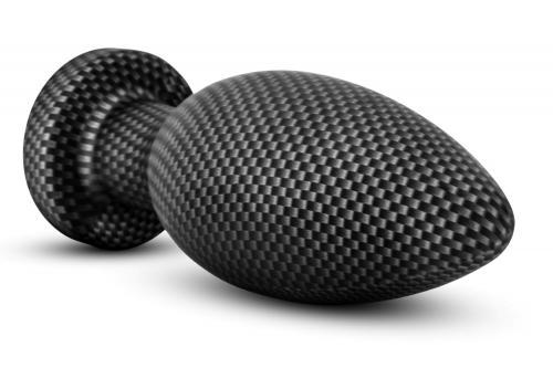 Spark - Siliconen Anaal Plug Carbon Fiber - Large #3