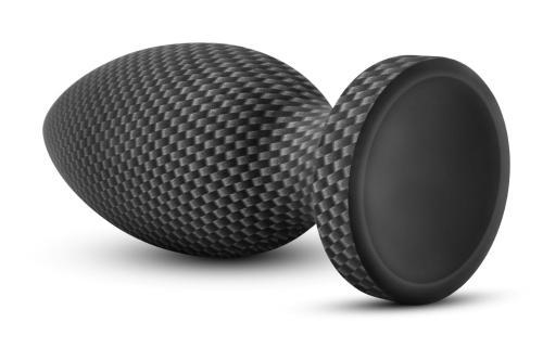 Spark - Siliconen Anaal Plug Carbon Fiber - Large #5