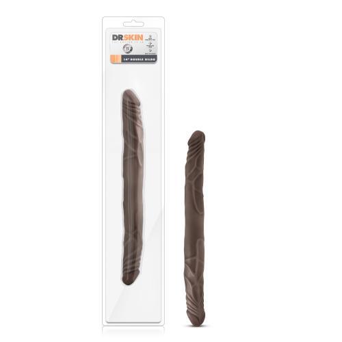 Dr. Skin - Realistische Dubbele Dildo 35 cm - Chocolate #7
