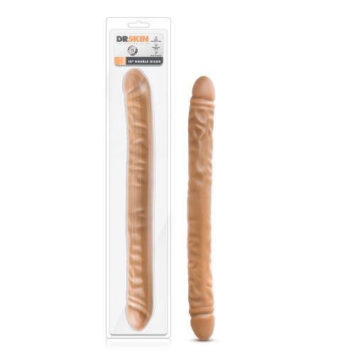 Dr. Skin - Realistische Dubbele Dildo 45 cm - Mocha #5